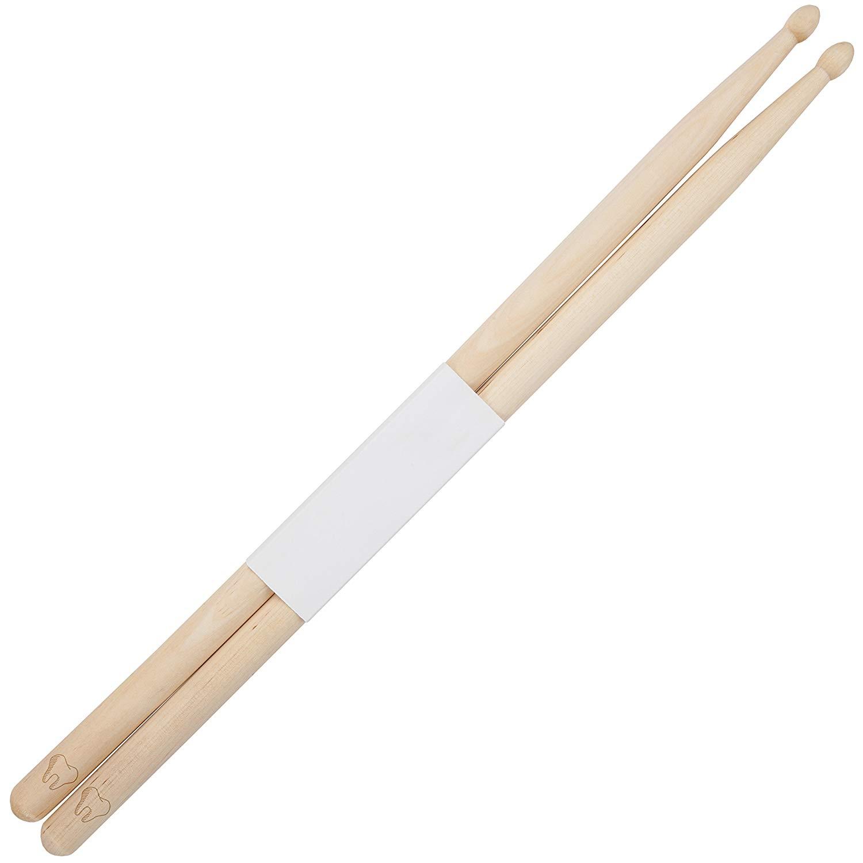 Tooth 5B Maple Drumsticks With Laser Engraved Design - Durable Drumstick Set With Wooden Tip - Wood Drumsticks Gift