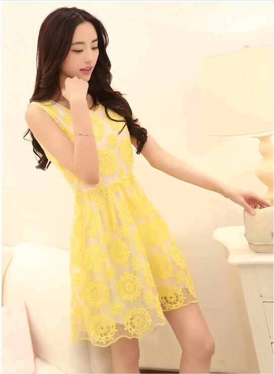 Cheap long yellow lace dress deals. (1751335 results). 4 Color 2015 New  Arrival Summer Fashion Casual Purple Blue Yellow Chiffon Floral Women A Line cf1a911ba