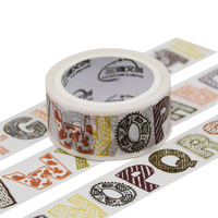 Die Cut Custom Printed Packing High Quality Logo Colorful Foil Stationery Decoration Paper Toy Washi Tape