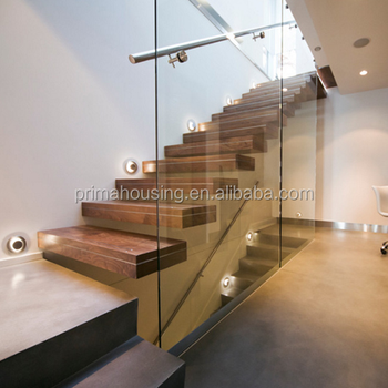 Invisible Steel Stringer Floating Staircase With Landings