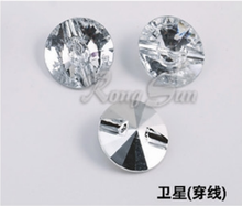 Transparent shinning crystal rhinestone button for bed decoration