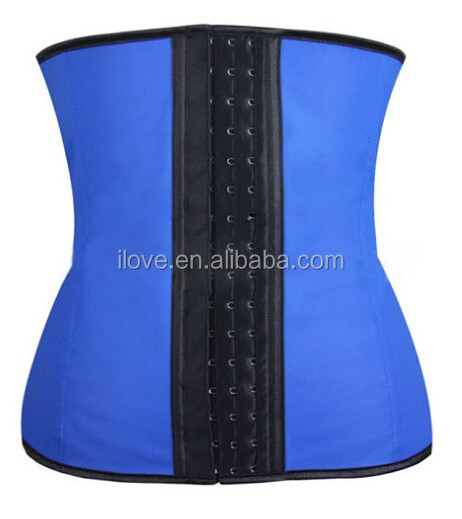 3 hooks latex rubber waist training cincher corset waist slimming corset hot shapers made in china