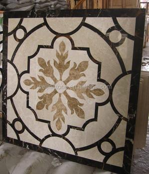 1x1 Meter Waterjet Marble Pattern Floor Designmodern Marble