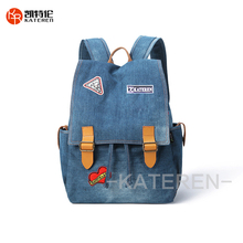 Großhandel Hohe Qualität <span class=keywords><strong>Jeans</strong></span> Stoff Leinwand Rucksack Mit Logo