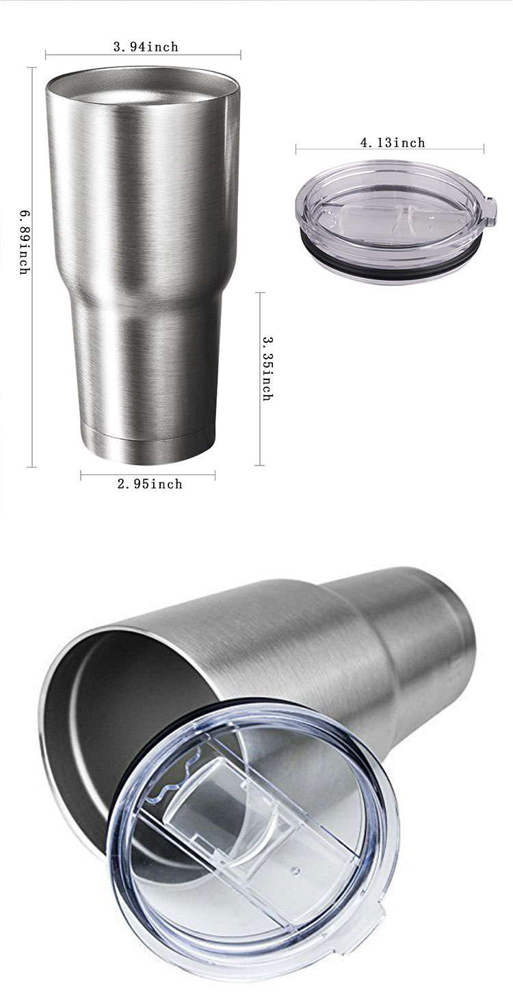 Custom 30Oz Double Wall Vacuum Insulated Travel Thermal Stainless Steel Coffee Mug And Cup