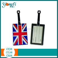 Wholesale Cheap Custom Hotel Airplane Soft Plastic PVC Luggage Tag