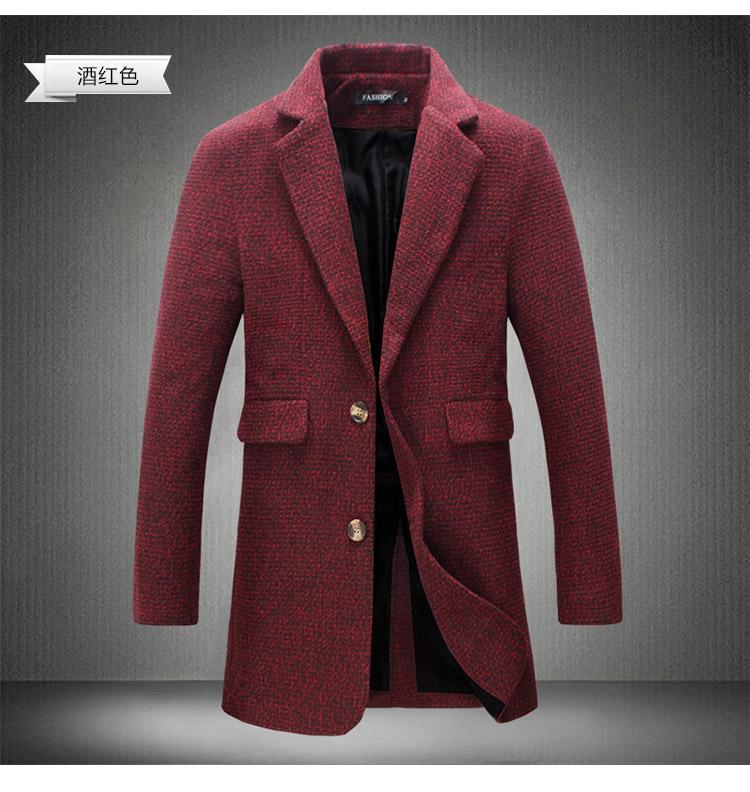 2018 neue lange Trenchcoat Herren Windbreaker Winter Mode Herren Mantel Wolle Qualität dicke warme Trenchcoat männlich Jacken 4XL 5XL