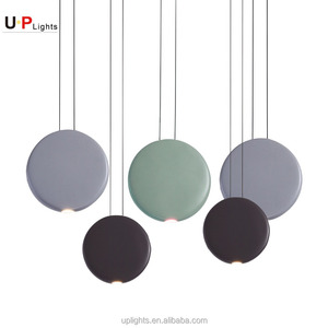Creative modern round resin led chandelier for kitchen