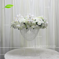 GNW CTRA-1705026 cheap table decoration silk flower acrylic stand centerpieces for wedding backdrop decoration