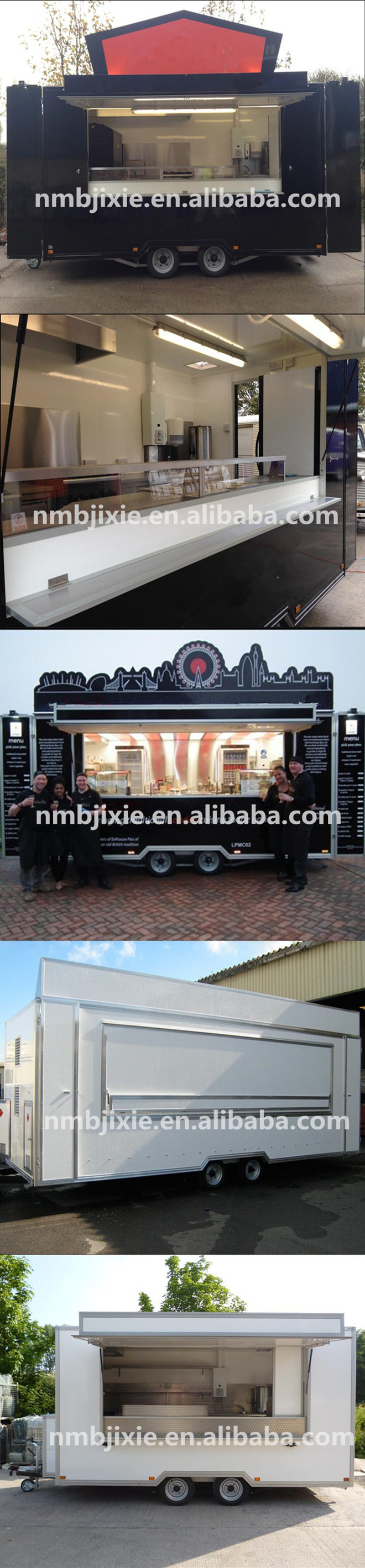 Small Price Outdoor Used Fast Food Mobile Kitchen Barbecue Trailer ...