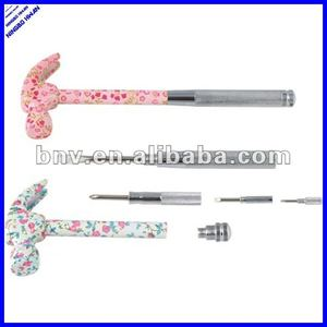 6 in 1 novelty multi purpose mini floral hammer with screwdriver hand tool