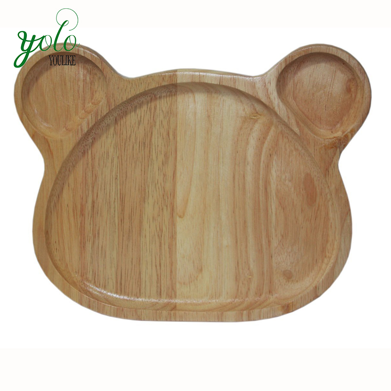 BPA Free kid plates Natural Bamboo Baby Feeding