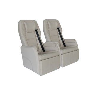 Business car seat with electric footrest and massage