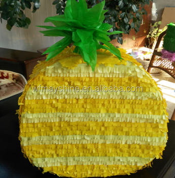 Fruit Design Pineapple Shape Pinata For Party