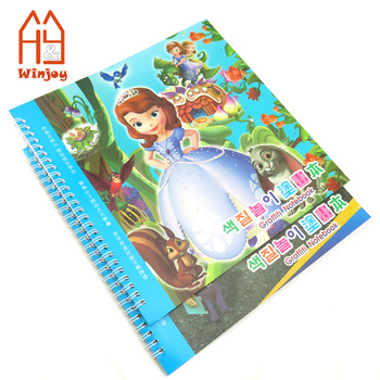 Wholesale Custom Coloring Book With 8 Pack Mini Color Pencil Crayons