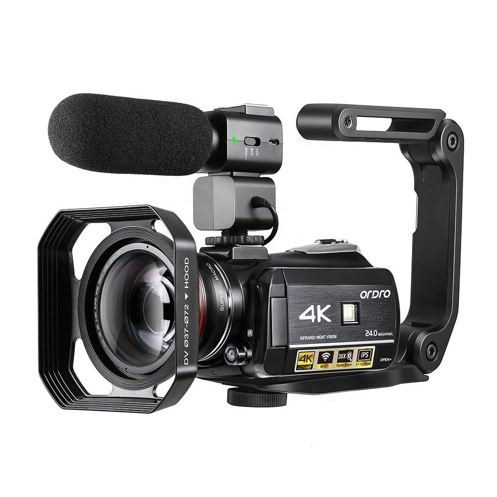ORDRO AC3 4K Camcorder Infrared IR Night Vision Video Camera Wifi Camera with Microphone Wide Angle Lens фото