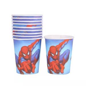 Colorful Custom Kids Tableware Cartoon Printing Disposable Birthday Party Paper Cup