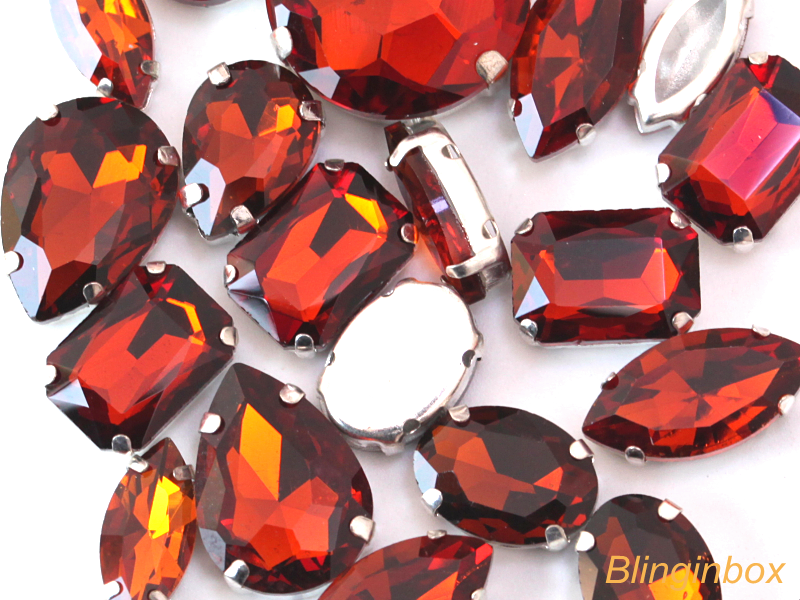 All AB colors available shape 13*18mm sew on crystal rhinestones with setting