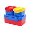 Hot Wholesale PP Cylinder Lego Building Blocks Lunch Box for Child