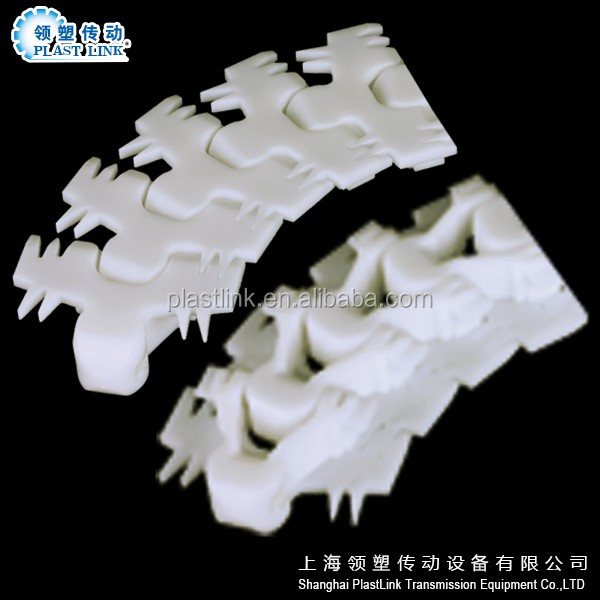 Plast Link 826 side flexing standard radius series plastic chains for food/beverage
