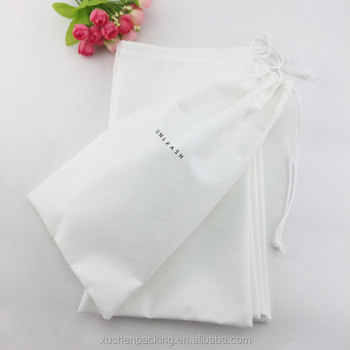 Cotton pull string pouch with custom logo
