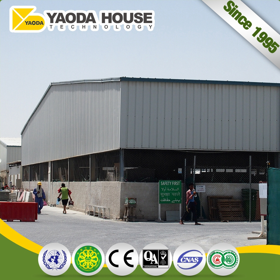 Qatar 300M2 Prefab Steel Workshop Prefabricated Buildings Pref. Welding Steel Structure Frame With Workshop Design