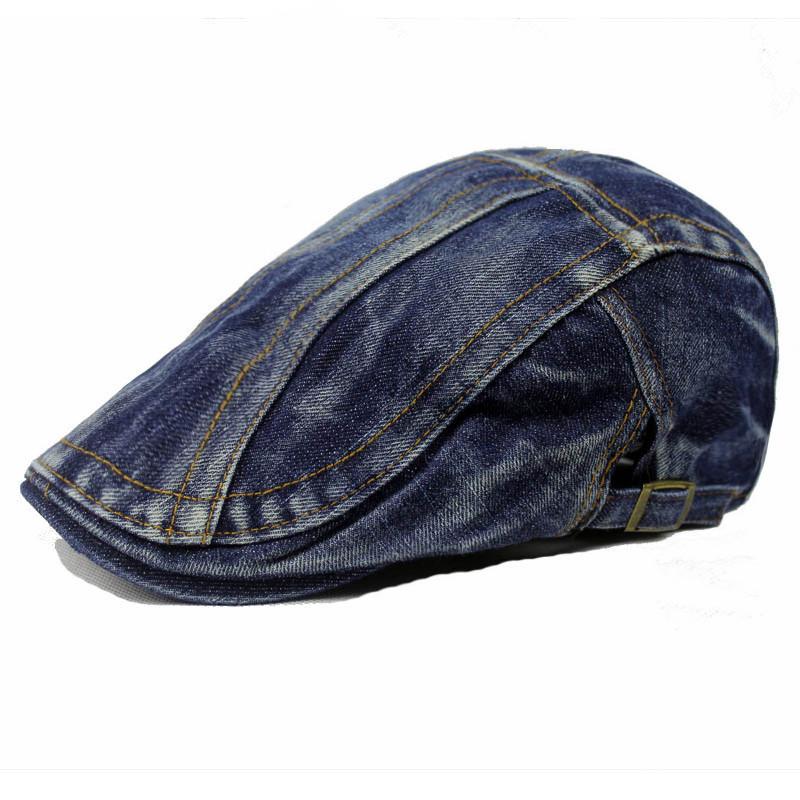 a95e5014108c8 Unisex High Quality Denim Cap Female Cap Men Hat Fashion Women Beret Hat  For Women Hat