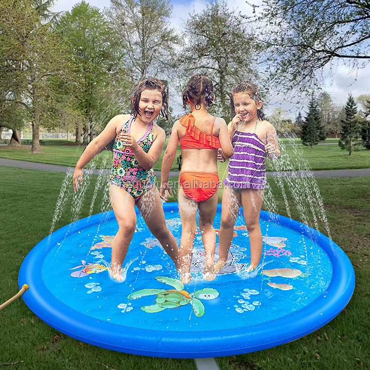 Factory Direct Sale Children Baby Inflatable Outdoor Garden Water Sprinkler Splash Pad Mat Toys  for Kids