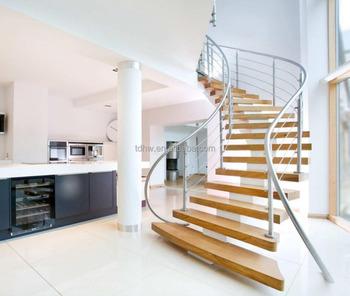Mono Stringer Geschwungene Treppe Mittleren Wirbelsaule Bogen
