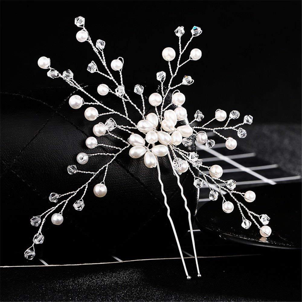 Weddwith Hair Accessories Hair styling accessories wedding accessories Europe and the United States fashion hair clips pearls leaf styling hair clips