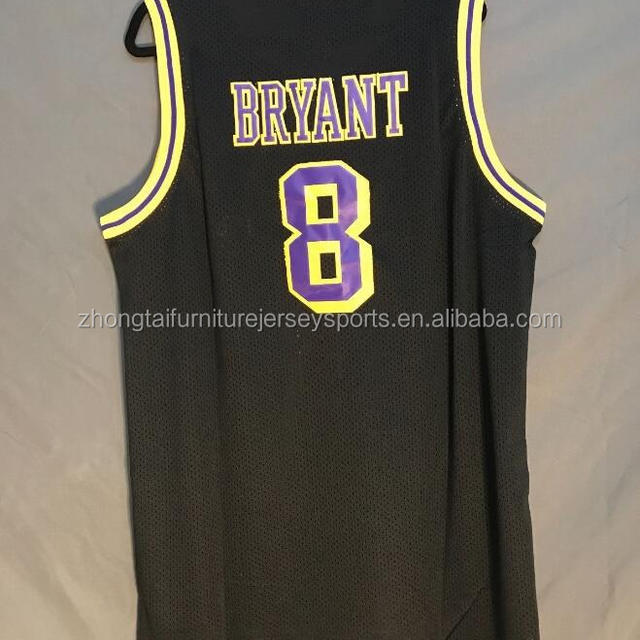 NWT Kobe Bryant #8 Black Retro Throwback Jersey Stitched Men Drop ship