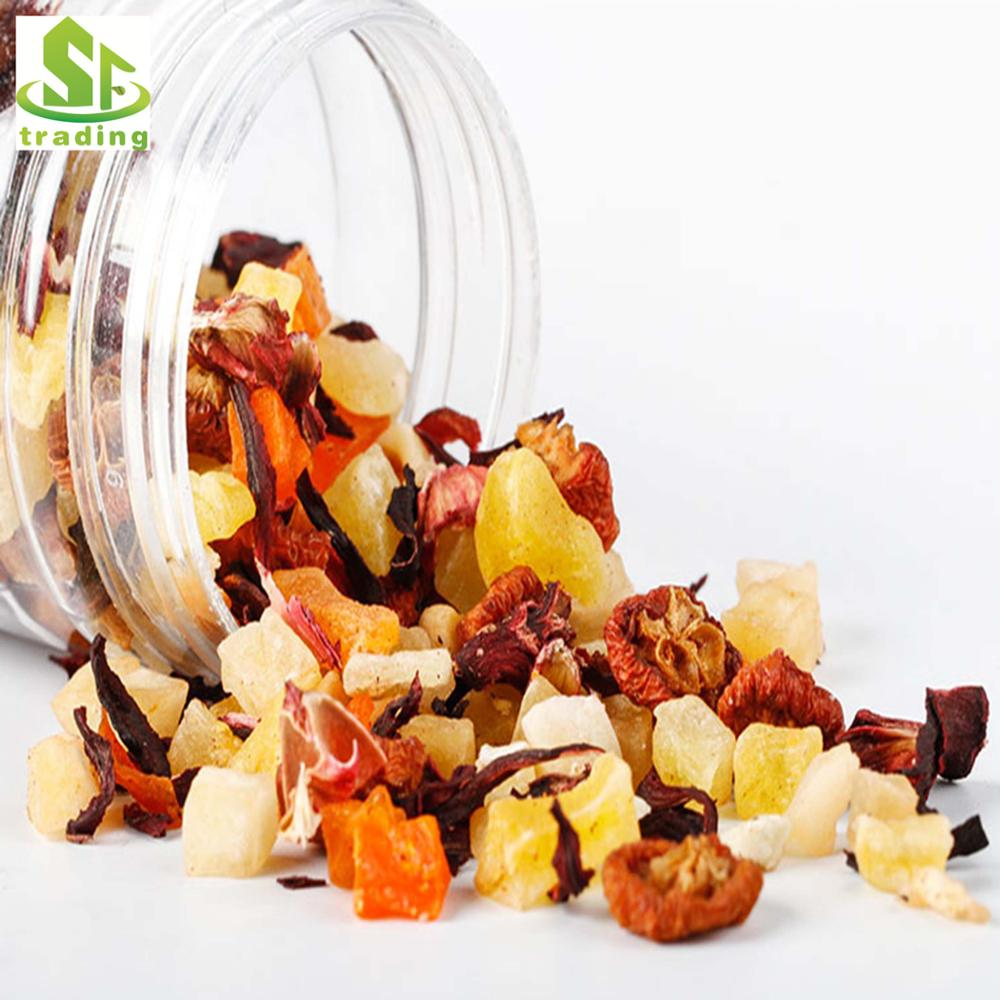 Popular selling Blend Flavor Fruit Tea with Dried Flowers And Fruits Free Sample fruit tea
