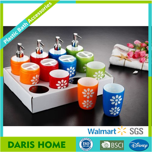 Matching European China Ps Bathroom Accessory Set For Hotel