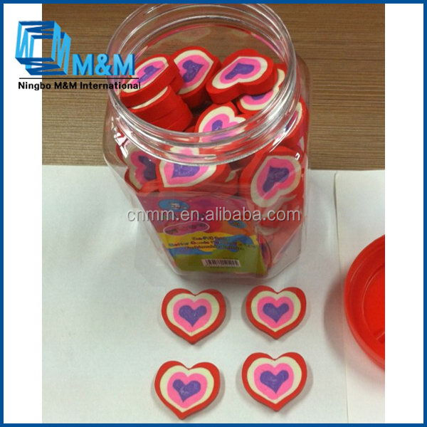 Heart Shaped Eraser 2b Pencil Eraser Special For Exam