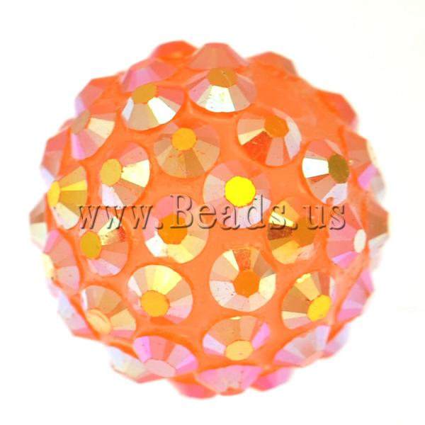 Free shipping!!!Resin Rhinestone Beads,2013 new summer, Drum, orange, 14x16mm, Hole:Approx 2.5mm, 100PCs/Bag, Sold By Bag