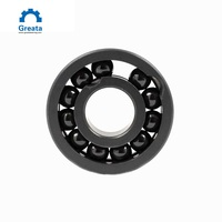 High Temperature Resistance Hardness HRC 90 Silicon Carbide Ceramic Ball Bearing