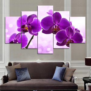 Digital Print Moder 3D Pink Orchid Flower Painting on Canvas Wall Picture Art Poster Sofa Home Cuadros Decor Dropship Unframed