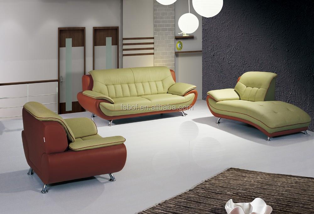 Home Furniture Leather Sofa, Full Leather Living Room Sofa Set, Green Leather  Sofa Sets, Sofa Set Purple Leather Sofa 615.