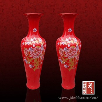 Room Show Pieces Chinese Red Floor Vases With Good Meaning Buy Red