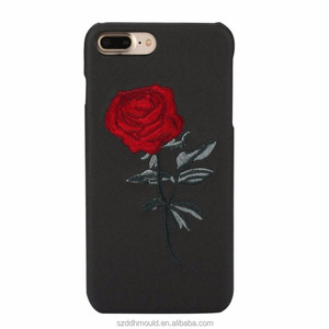 Vintage Embroidery Rose Floral Leather Mobile Cell Phone case For iPhone 7 Plus