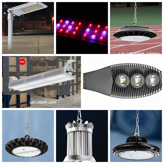 Parking lot lighting Aluminum Cover DLC ETL led flood lights 140 Watt
