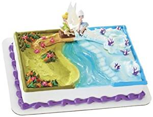 CakeDrake TINKERBELL PERIWINKLE Sisters Fairy Wing Birthday Cake Topper Decor Set Kit