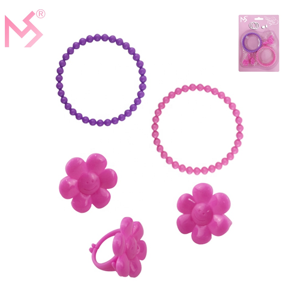 Party Suppliers Bracelets Rings Plastic Kids Jewelry Valentine Gift