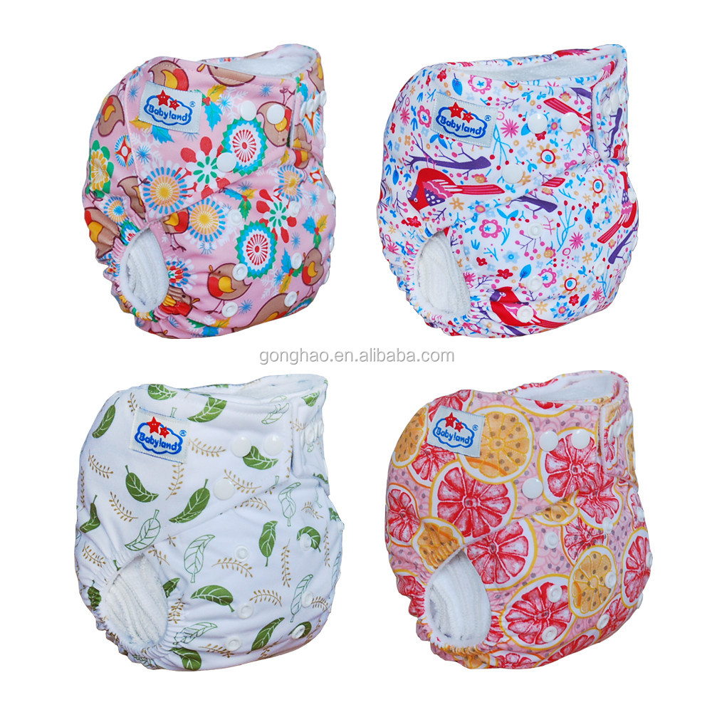 3D Leak Prevention Channel Bamboo Charcoal Cloth Diaper