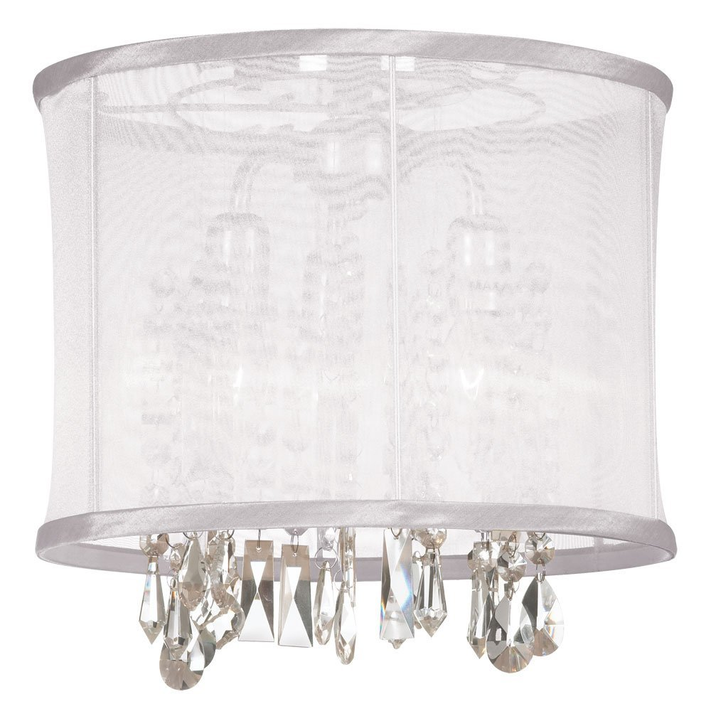 Dainolite Lighting 85312SF-PC-119 Light Crystal Semi Flush Ceiling Light, Polished Chrome