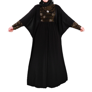 2017 Latest Design Sequins Muslim Abaya Maxi Dress Islamic Clothing Jilbab