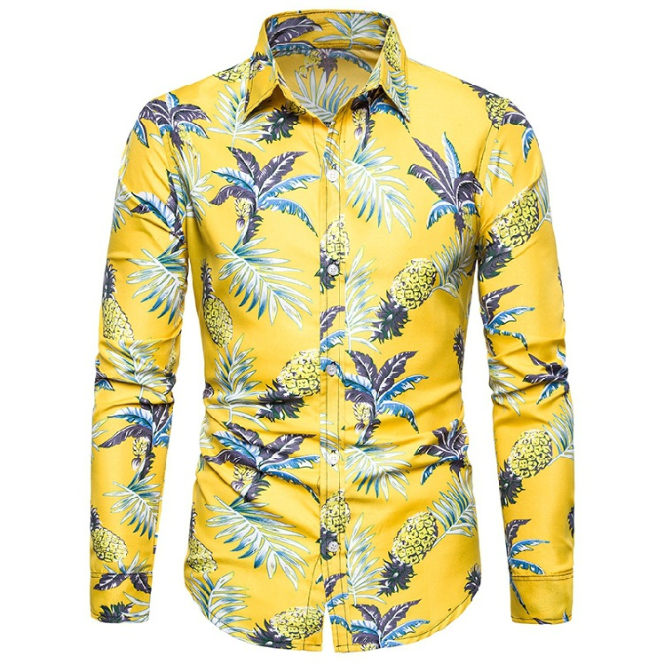 CL0647A Sommer Männer frauen Casual Lange Hülse Hawaiian Shirt