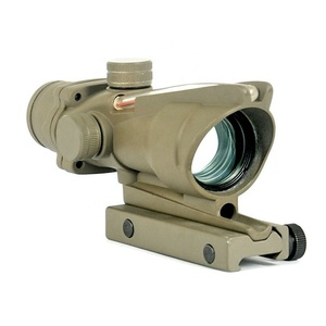 GSP0205-RT--ACOG Style RC 1X32 Fiber Optic Red Dot Sight Scope With QD Mount