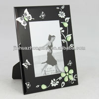 Stained Glass Vintage Picture Frames With Blooming Flowers