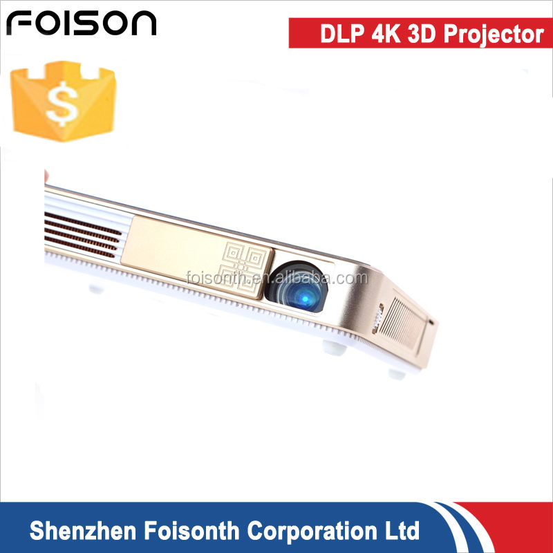 Foison Manufacture factory 1080P Mini Smart WiFi Projector Portable Television and Business Travel